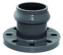 Adaptador de brida de PVC con enchufe a PVC junta elástica