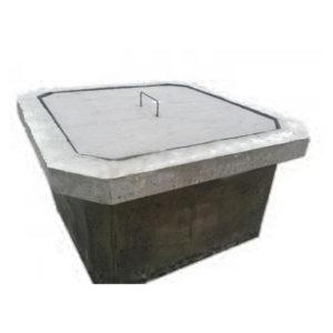 Cámara de inspección cloacal cemento con tapa y contratapa