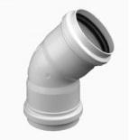 Curva cloacal corta a 45º junta elástica PVC inyectado - Ø110