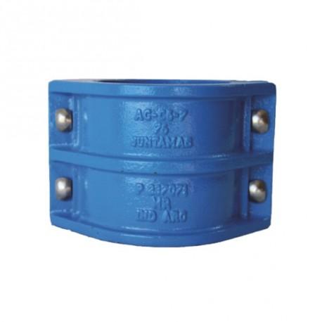 Juntamas hierro fundido reparación para caño de PVC