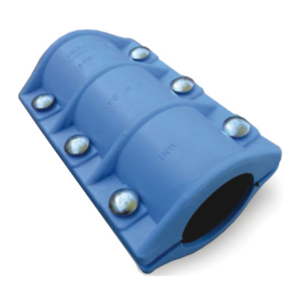Juntamas plástico reparación para caño de PVC extra larga