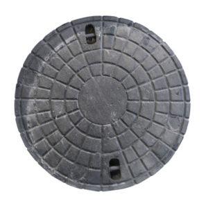 Marco y tapa boca de registro hierro fundido calzada tipo OSN - Ø 600