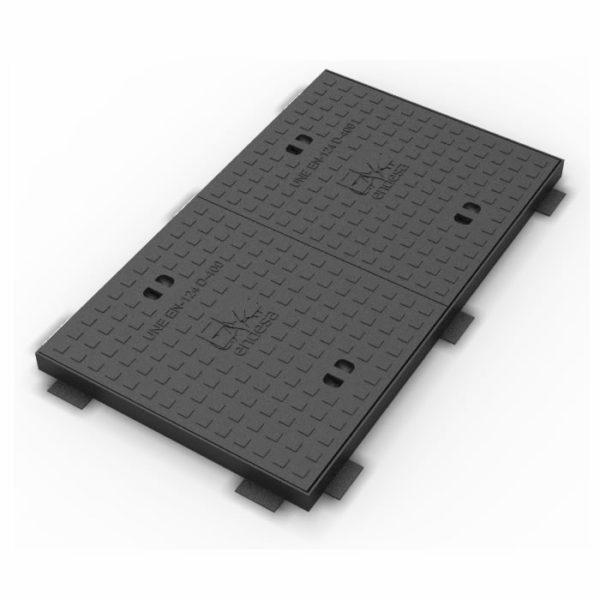 Marco y tapa de hierro dúctil para fibra óptica - 1000 x 60 cm