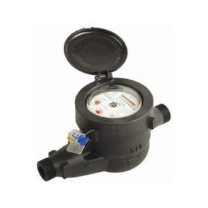 "Medidor velocimétrico PVC 165 mm cuadrante seco y semi húmedo - Ø 3/4"""