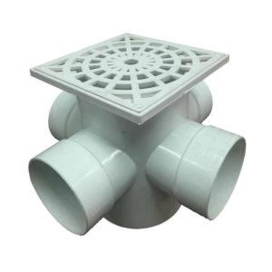 Pileta de patio abierta rejilla PVC