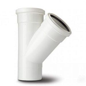 Ramal cloacal a 45º MHH junta elástica PVC inyectado - Ø 110 x 110