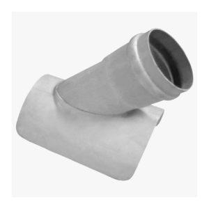 Ramal cloacal montura postizo junta elástica PVC