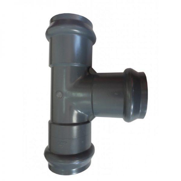 Ramal tee normal Clase 10 junta elástica PVC inyectado
