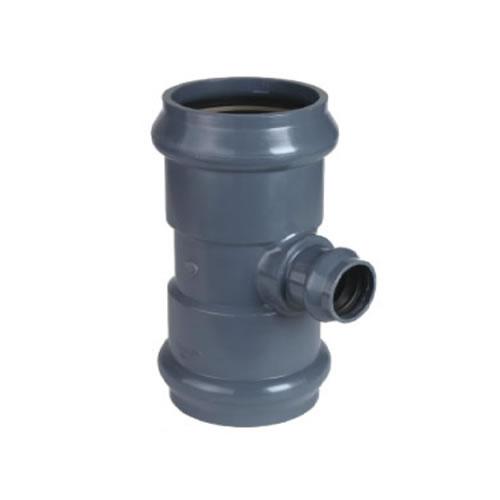 Ramal tee reducción Clase 10 junta elástica PVC inyectado