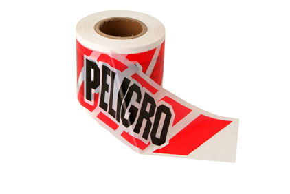 """Rollo cinta blanca """"PELIGRO"""""""