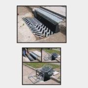 Sumidero completo BT acero galvanizado con tuercarampa para residuos