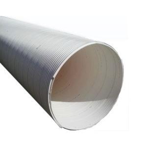 Tubo perfilado estructural corrugado de PVC rib loc / tubo canal