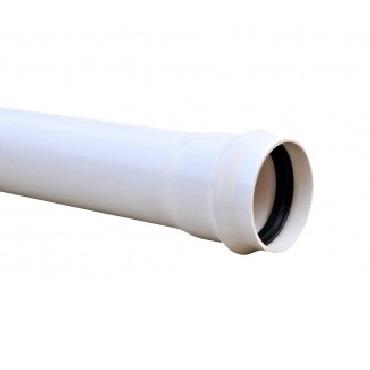 Tubo de red cloacal PVC junta elástica - junta integrada con aro rieber x 6m