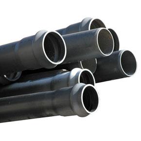 Tubo de red presión junta integrada con aro rieber Clase 4 x 6 m