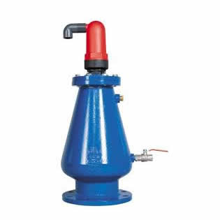 Válvula de aire bridada de hierro dúctil para cloaca