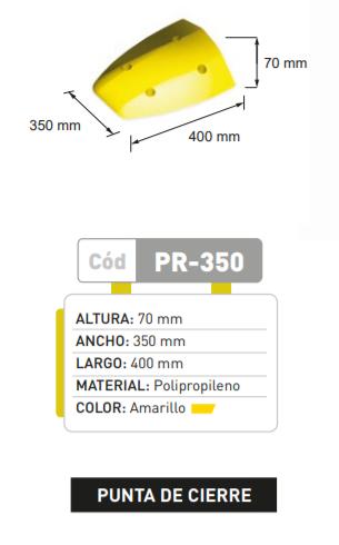 PUNTA DE CIERRE -PR-350